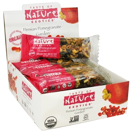 DROPPED: Taste of Nature - Organic Fruit and Nut Bar Persian Pomegranate Garden - 1.4 oz.