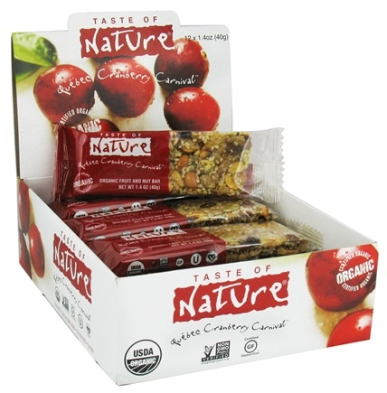 DROPPED: Taste of Nature - Organic Fruit and Nut Bar Quebec Cranberry Carnival - 1.4 oz.