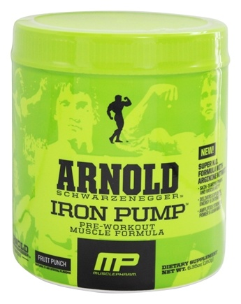 Muscle Pharm - Arnold Schwarzenegger Series Arnold Iron Pump Fruit Punch - 6.35 oz.