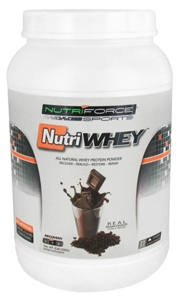 DROPPED: NutriForce Sports - NutriWhey All Natural Whey Protein Powder Belgian Chocolate - 2 lbs.