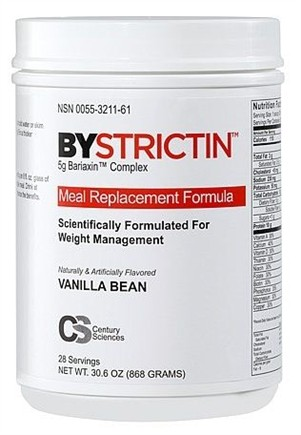 DROPPED: Century Sciences - Bystrictin Meal Replacement Formula Vanilla Bean 28 Servings - 30.6 oz.