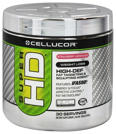 DROPPED: Cellucor - Super HD Fat Targeting & Sculpting Agent Strawberry Lemonade 30 Servings - 180 Grams