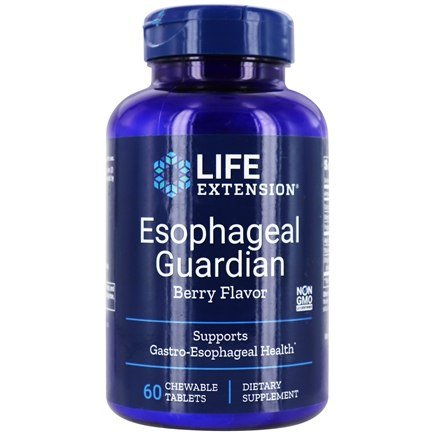 Life Extension - Esophageal Guardian Natural Berry Flavor - 60 Chewable Tablets