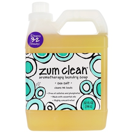Indigo Wild - Zum Clean Aromatherapy Laundry Soap Sea Salt - 32 oz.