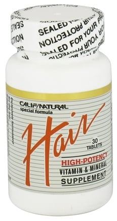 California Natural - Hair Vitamin & Mineral Supplement - 30 Tablets