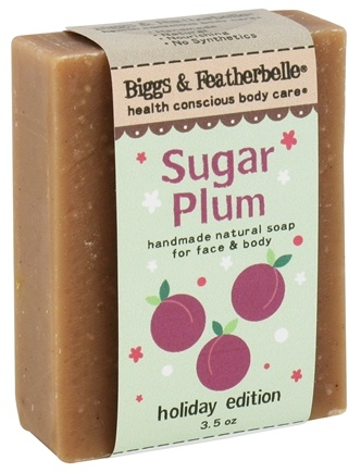 DROPPED: Biggs & Featherbelle - Handmade Natural Soap For Face & Body Holiday Edition Sugar Plum - 3.5 oz. CLEARANCED PRICED