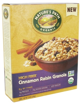 DROPPED: Nature's Path Organic - High Fiber Granola Cinnamon Raisin - 12.34 oz.