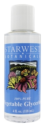 Starwest Botanicals - Vegetable Glycerine 100% Pure - 4 oz.