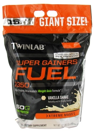 Twinlab - Super Gainers Fuel 1350 Vanilla Shake - 12 lbs. LUCKY PRICE