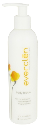 DROPPED: Everclen - Body Lotion For Sensitive Skin Fragrance Free - 8 oz.