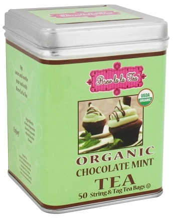 Brew La La - Organic Tea Chocolate Mint - 50 Tea Bags