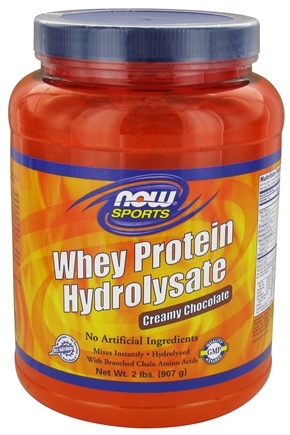 NOW Foods - Whey Protein Hydrolysate Creamy Chocolate - 2 lbs.