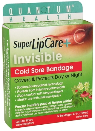 Quantum Health - Super Lipcare+ Invisible Cold Sore Bandage - 12 Bandage(s)