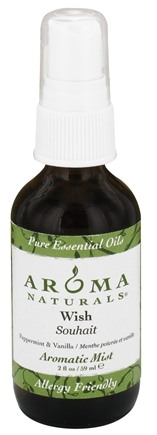 Aroma Naturals - Wish Aromatic Mist Peppermint & Vanilla - 2 oz.