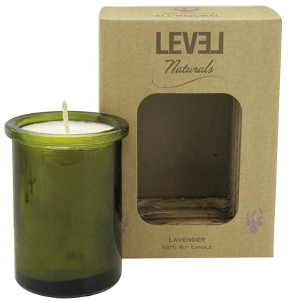 DROPPED: Level Naturals - Soy Candle Lavender - 6 oz.