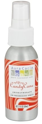 DROPPED: Aura Cacia - Aromatherapy Air Freshening Spritz Uplifting Candy Cane - 2 oz. CLEARANCE PRICED