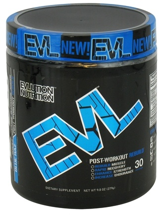 DROPPED: Evlution Nutrition - RE-BLD Post Workout Rebuild 30 Servings Blue Raz - 9.8 oz.
