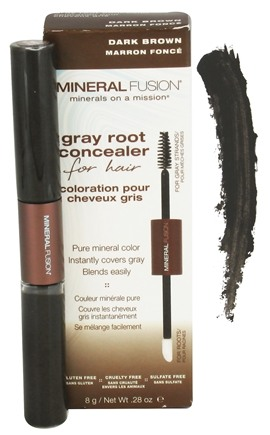 Mineral Fusion - Gray Root Concealer For Hair Dark Brown - 0.28 oz.