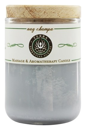 Terra Essential Scents - Massage & Aromatherapy Soy Candle Nag Champa - 2.5 oz.