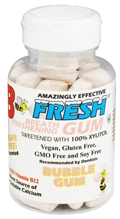 B Fresh - Breath Freshening Sugar Free Gum Bubble Gum - 50 Piece(s)