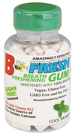 B Fresh - Breath Freshening Sugar Free Gum Cool Spearmint - 100 Piece(s)