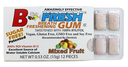B Fresh - Breath Freshening Sugar Free Gum Mixed Fruit - 12 Piece(s)