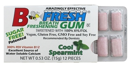 B Fresh - Breath Freshening Sugar Free Gum Cool Spearmint - 12 Piece(s)