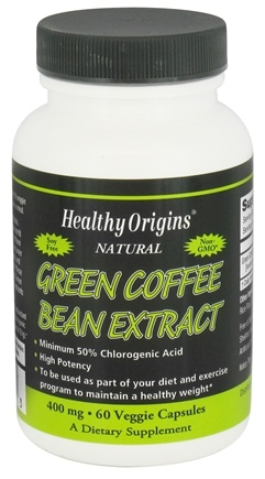 DROPPED: Healthy Origins - Natural Green Coffee Bean Extract 400 mg. - 60 Vegetarian Capsules