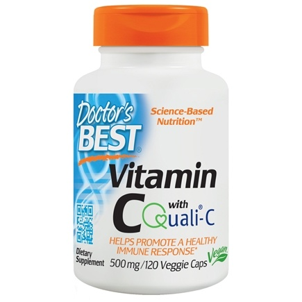 DROPPED: Doctor's Best - Best Vitamin C 500 mg. - 120 Vegetarian Capsules