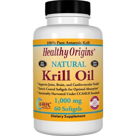 Healthy Origins - Natural Krill Oil 1000 mg. - 60 Softgels
