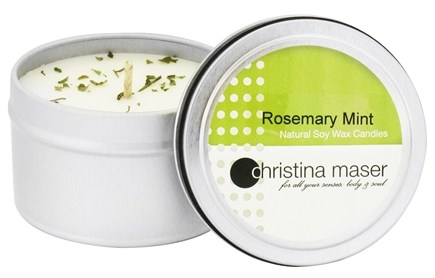 DROPPED: Christina Maser - Natural Soy Wax Candle Rosemary Mint - 6 oz.