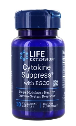 Life Extension - Cytokine Suppress with EGCG - 30 Vegetarian Capsules