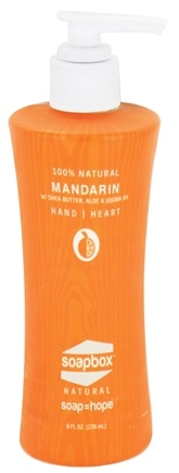 DROPPED: Soapbox Soaps - All Natural Liquid Hand Soap Mandarin - 8 oz.