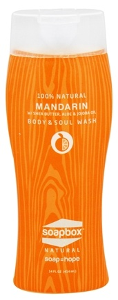 Soapbox Soaps - All Natural Body & Soul Wash Mandarin - 14 oz.