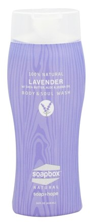 DROPPED: Soapbox Soaps - All Natural Body & Soul Wash Lavender - 14 oz.