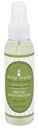 Deep Steep - Dry Oil Body Spritzer Rosemary-Mint - 4 oz.