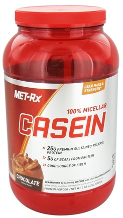 DROPPED: MET-Rx - 100% Micellar Casein Chocolate - 2 lbs.