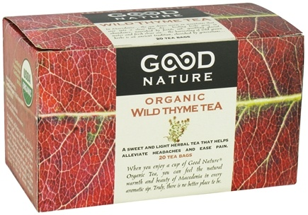 Good Nature Tea - Organic Tea Caffeine Free Wild Thyme - 20 Tea Bags