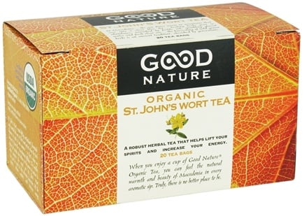 DROPPED: Good Nature Tea - Organic Tea Caffeine Free St. John's Wort - 20 Tea Bags