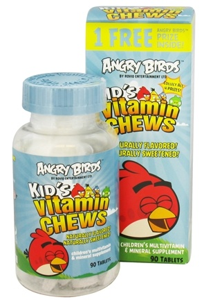 DROPPED: Natrol - Angry Birds Kid's Vitamin Chews - 90 Chewable Tablets CLEARANCE PRICED