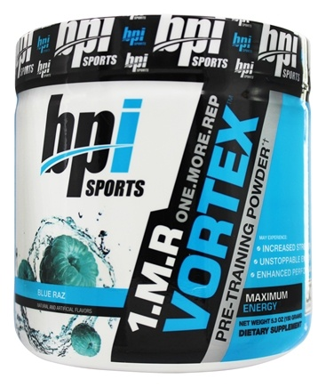 BPI Sports - 1 M.R Vortex Limited Edition Pre-Workout Powder Blue Raz 50 Servings - 150 Grams