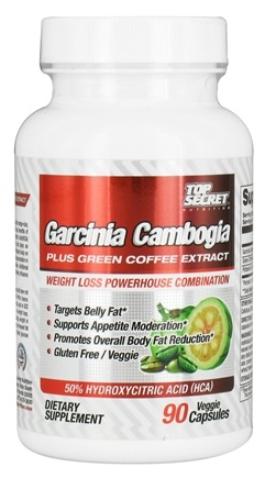 DROPPED: Top Secret Nutrition - Garcinia Cambogia Plus Green Coffee Extract - 90 Vegetarian Capsules
