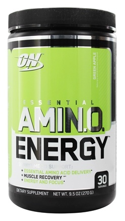 Optimum Nutrition - Essential AmiN.O. Energy Green Apple 30 Servings - 9.5 oz.
