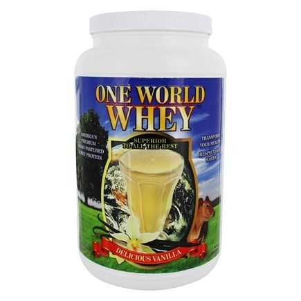 DROPPED: One World Whey - Protein Power Food Nature's Vanilla - 5 lbs.