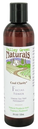 DROPPED: Valley Green Naturals - Cool Clarity Facial Toner Lemon-Tea Tree Peppermint - 8 oz.