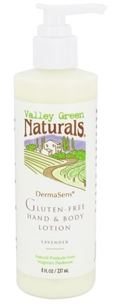 Valley Green Naturals - DermaSens Gluten-Free Hand & Body Lotion Lavender - 8 oz.