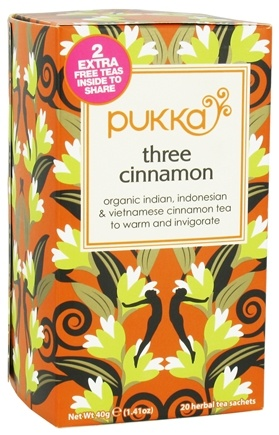 DROPPED: Pukka Herbs - Organic Indian, Indonesian & Vietnamese Cinnamon Tea Three Cinnamon - 20 Tea Bags