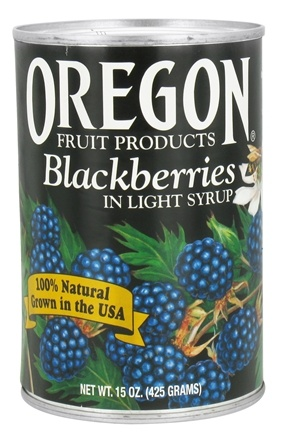 DROPPED: Oregon Fruit Products - Blackberries in Light Syrup - 15 oz.
