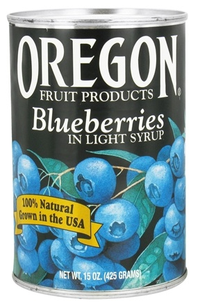 Oregon Fruit Products - Blueberries in Light Syrup - 15 oz.