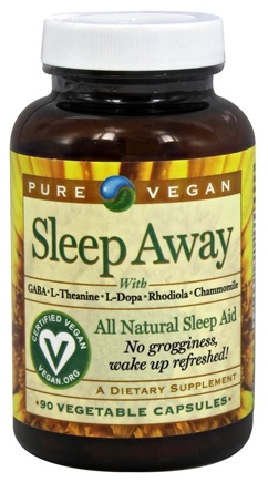 Pure Vegan - Sleep Away All Natural Sleep Aid - 90 Vegetarian Capsules